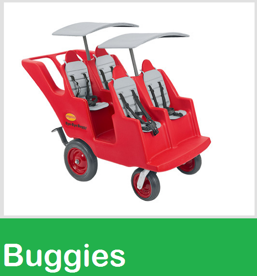 bye bye baby buggie, child care strollers, gaggle buggies, commercial strollers