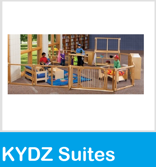 kydz suites panels room dividers, gates, arches, upper deck, legs, hubs