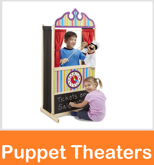 puppet theaters, guidecraft floor puppet theater, flannel puppet theater, table top puppet theaters