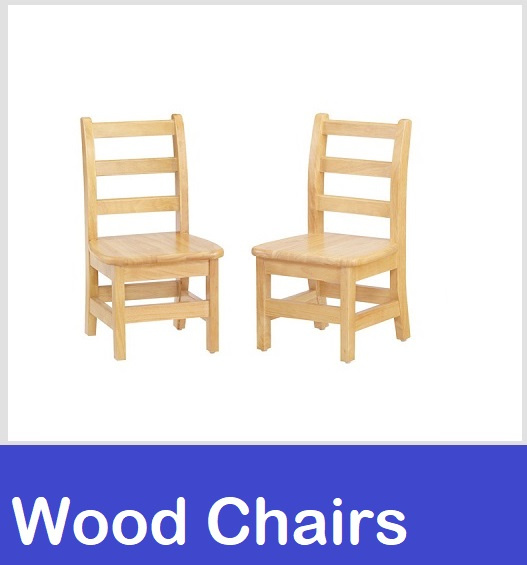wood chairs school daycare preschool seating