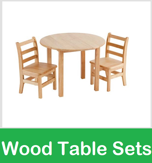 wood table chair sets school preschool wooden kids furniture
