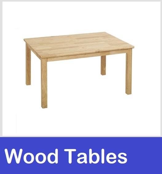 wood tables school preschool daycare tables
