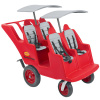 Fat Tire Bye-Bye Buggy 4-Passenger with 2 Gray Canopy