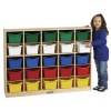 ELR-0427-XX Birch 25 Cubby Tray Cabinet with Bins - Mobile