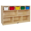 ELR-17255F-AS Birch 5+5 Storage and Tray Cabinet with Bins
