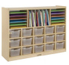 ELR-0428-CL Multi-Section Storage Cabinet w/ 15 Clear Bins