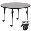 "FF 48"" Round Mobile Activity Table - Gray - Preschool"
