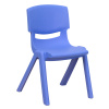 "FF BLUE STACKABLE 12"" SCHOOL CHAIR 6-Pack"