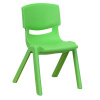 "FF GREEN STACKABLE 12"" SCHOOL CHAIR 1-Pack"