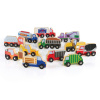 GC-G6718 Guidecraft Wooden Truck Collection - Set of 12