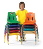 "8120JC6 Berries 10"" Chairs with matching leg (6 Pack)"