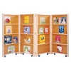 0267JC Jonti-Craft Mobile Library Bookcase - 4 Sections
